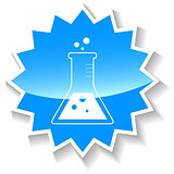 Experiment blue icon