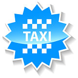Taxi blue icon