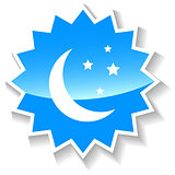 Moon blue icon