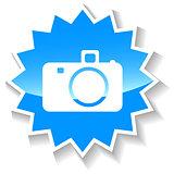 Camera blue icon