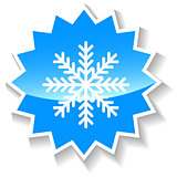 Snowflake blue icon