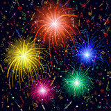 Holiday Firework Background