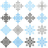 Winter Snowflakes Set