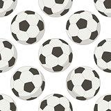 Soccer balls, seamless background