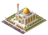 Vector isometric mosque