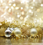 Golden Christmas background