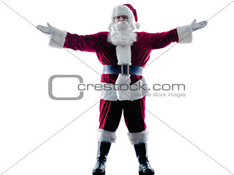 santa claus Saluting silhouette isolated