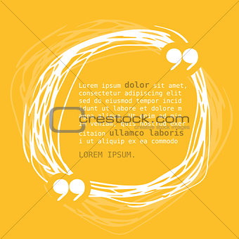 Circle frame with quote on yellow background.