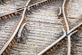 rusty railroad tracks