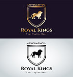 Royal logo vector lion silhouette