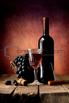 Bright wine composition