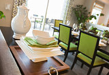 Dining Area of Home with Apple Green Accents
