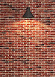 red brick wall decoration under the spot light rendering