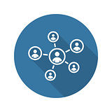 Staff Management Icon. Business Concept. Flat Design.