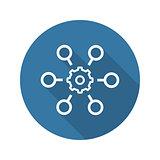 Process Automation Icon. Business Concept. Flat Design.