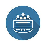 Company Profile Icon.  Flat Design.