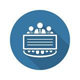 Company Profile Icon.  Flat Design.