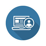 Online Support Icon. Business Concept. Flat Design.