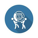 Market Share Icon. Business Concept. Flat Design.