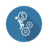 Business Mechanics Icon. Flat Design.