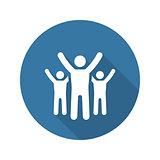 Success Icon. Business Concept. Flat Design.