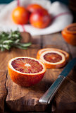 Sicilian Bloody Red oranges candied slices.