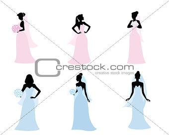 Brides in wedding dress