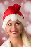 bizarre christmas woman
