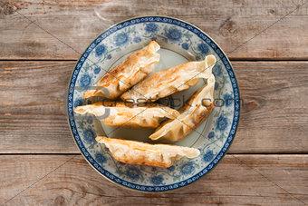 Asian gourmet pan fried dumplings