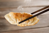 Chinese meal pan fried dumplings