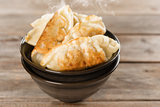 Popular Chinese food pan fried dumplings