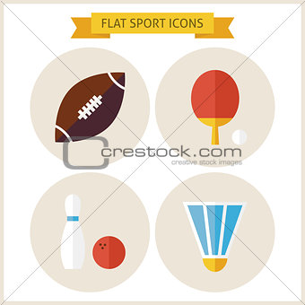 Flat Sport Website Icons Set