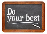 Do your best on blackboard