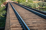 railroad tracks over river