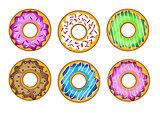 Vector tasty donuts