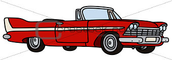 Old american cabriolet