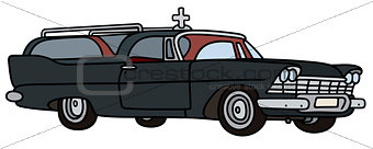 Classic funeral car