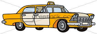 Old big taxi