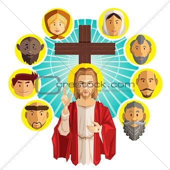 All Saints Day Illustration