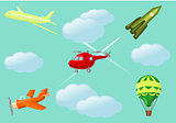 Cartoon aircraft