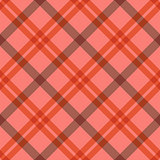Seamless tartan diagonal pattern in pink and red