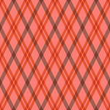 Seamless tartan rhombic pattern in pink and red