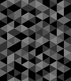 Tile vector background with black and grey triangle geometric mosaic