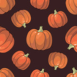 Pumpkin Background seamless pattern