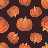 Pumpkin Background seamless pattern