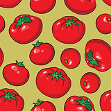 Vector seamless pattern with tomatoes