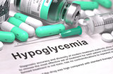 Diagnosis - Hypoglycemia. Medical Concept with Blurred Background