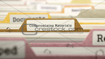 Folder in Catalog Marked as Compromising Materials.