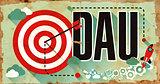 DAU Concept. Poster in Flat Design.