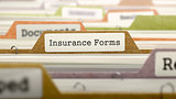 Folder in Catalog Marked as Insurance Forms.